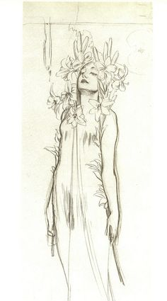 Alphonse Mucha drawing | Flickr - Photo Sharing!