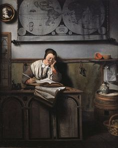Nicolaes Maes - The Account Keeper, 1656. I feel like this at work some days.