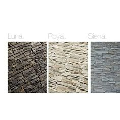 Inspirados em pedras Luna, Royal e Siena podem ser uma boa solução para redefinir as suas paredes.  Inspired in stones Luna, Royal and Siena can be a good solution to redefine your walls.  #acl #acimenteiradolouro #revestimentos #coatings  #claddigns #stones #house #architecture
