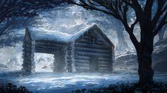 beautiful painting art winter hd wallpapers download