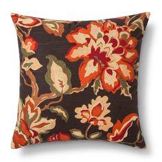 "18""     $15.00     Warm Floral Throw Pillow – Threshold™ : Target"
