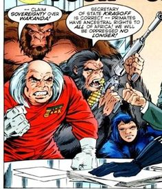 Time for the Ape of the Day!  Fun fact: The Red Ghost's efforts to foment a Communist revolution in Wakanda came to nothing when a rumor spread among the local apes that Marx had advocated the abolition of primate property.