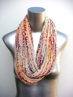 Yellow Infinity Scarf  Circle Scarf Jersey  Statement by Necklush, $74.00