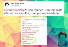A questão é clara e direta: Porque ser feminista? E, se as respostas são múltiplas, de naturezas e intensidades diversas, o sentimento por trás delas é o mesmo: a luta pela igualdade de gênero e a integridade e os direitos das mulheres. Foi em nome desse sentimento comum que a página do Facebook Não Me Kahlo e a conta do Twitter @Monalizamos criaram, nesse domingo (21) a hashtag #SouFeministaPq, a fim de que as mulheres pelo Brasil respondessem a essa pergunta, e trouxessem ainda um pouco…