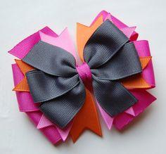 Hair bow... Love the colors!