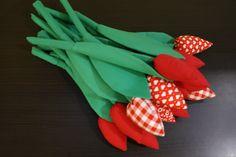 cotton tulips #tulips #springdecorations #ester #handmade #kokoart #cotton