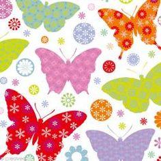 Serviette en papier Animaux - Papillons multicolores - 20 pcs 3.85€