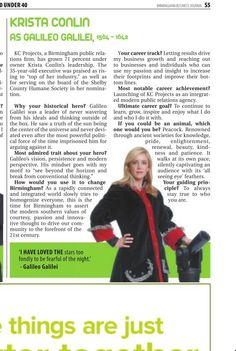 Congrats to our own Krista Conlin - Top 40 Under 40, Birmingham Business Journal.