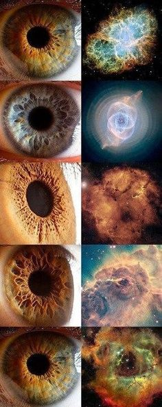 EYES AND DIFFERENT GALAXIES.
