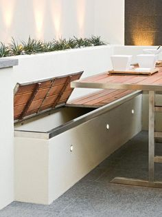 Patio bench storage