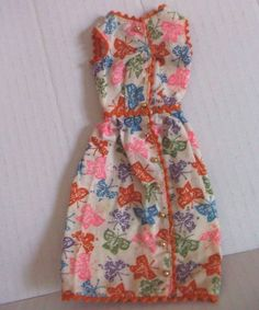 Vintage Barbie: BRUNCH TIME 1628 COFFEE'S ON 1670 BUTTERFLY DOLL DRESS #Mattel
