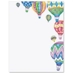 Hot Air Balloon Letter Paper | Idea Art