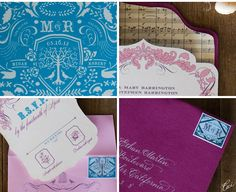 Our Muse - Wedding Invitations - Be inspired by Megan & Robert's spring wedding at Firestone Vineyard, Los Olivos, California - custom stamps, die cutting, hand calligraphy, invitations, letterpress printing, offset printing, wedding