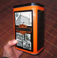 Vtg Harley Davidson Coffee Canister Tin Flat Oil Can Shape 100th Anniversary '03 | eBay