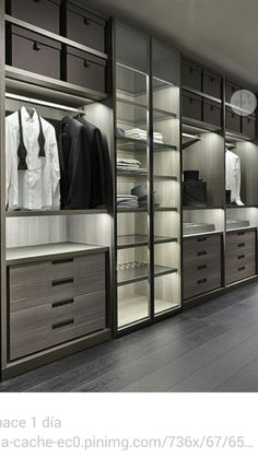 55 Ideas For Luxury Closet Organization Master Bedrooms Wardrobe Design Bedroom, Master Bedroom Closet, Bedroom Wardrobe, Wardrobe Closet, Master Bedrooms, Glass Wardrobe, Walk In Closet Design, Closet Designs, Dressing Room Closet