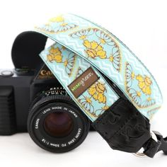 Mimi Green 'Santa Fe Blue' Designer DSLR Camera Strap … >>> To view further for this item, visit the image link. (This is an Amazon Affiliate link and I receive a commission for the sales)