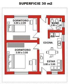Image result for duplex 30m2 planos