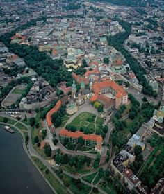 Poland air pictures. Kraków: Old Town withe the Wawel royal castle in the foreground  9/30/2013