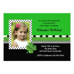 St. Patrick's Day Trendy Photo Invitation online after you search a lot for where to buyDeals          	St. Patrick's Day Trendy Photo Invitation Online Secure Check out Quick and Easy...