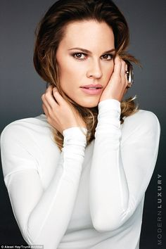I am woman: Hilary Swank has revealed to Manhattan magazine that despite her success it has taken her some time to realise her own strength