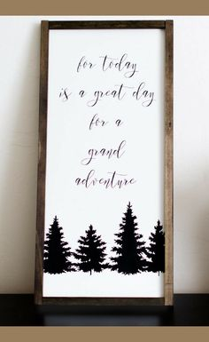 For Today is a Great Day for Grand Adventure Wood sign, Wooden Farmhouse Calligraphy Sign Vertical, Farmhouse Decor, Farmhouse Style Wall Art, Painted Quote Sign, Rustic Decor, Home Decor, seek adventure, Wanderlust Decor #ad