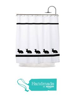 Bunny Rabbit Shower Curtain - In Your Choice of Colors - Custom Made Bath Decor from PaintedPooches Holiday Shower Curtains, Bath Decor, Bunny Rabbit, Custom Made, Colors, Prints, Handmade, Hand Made, Colour