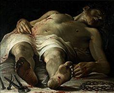 proustitute:    Annibale Carracci, The Dead Christ, c. 1582