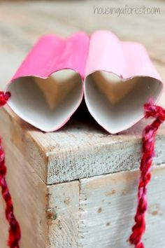 Heart Shaped Binoculars ~ Valentine craft ideas