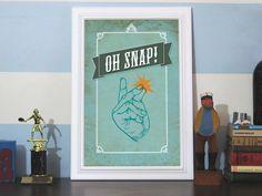 Oh Snap! 12x18 Art Print