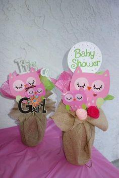 Owl Centerpiece | Owl Centerpiece | Baby Shower Ideau0027s