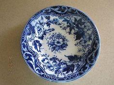 Antique Bowl, August Nowotny Porcelain, Deep Blue Flowers Surround the Bowl Delft, Deep Blue, Blue Flowers, Porcelain, Plates, Antiques, Tableware, Licence Plates, Antiquities