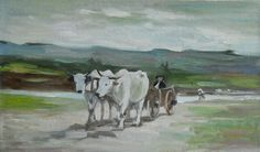 Cow, Painting, Animals, Animales, Animaux, Painting Art, Paintings, Animal Memes, Painted Canvas