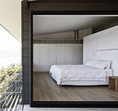 Bedroom with a view | Rachel Hudson Architecture