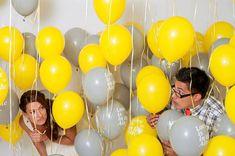 Яркая желтая свадьба