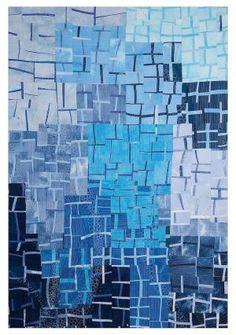 ... art quilt quilts moderne contemporary quilt artquilts blue quilts