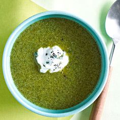 Cream of Broccoli and Spinach Soup