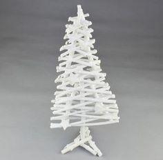 Vánoční proutěný strom