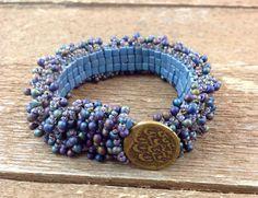 Hand Beaded Bracelet with Fringe Beads by AriGarDesigns on Etsy