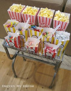 movie night slumber party- for my daughter bday party Movie Themed Birthday Party: Concession Stand 13th Birthday Parties, Birthday Party Themes, 12th Birthday, Movie Theatre Birthday Party, Slumber Party Birthday, Cinema Party, Paris Birthday, Baseball Birthday, Baseball Party