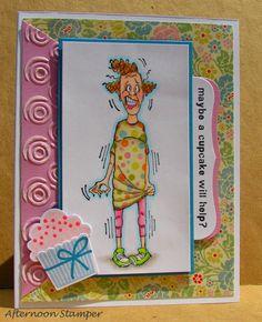 Art Impressions Golden Oldies Sylvia (Sku#J1550) Handmade humorous card.