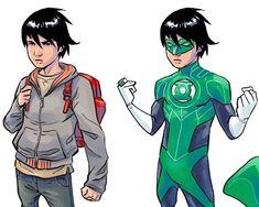 Green Superhero, Red Lantern Corps, Frank Miller Comics, Green Lantern Comics, Comic Art, Comic Books, Green Lanterns, Super Hero Outfits, Bruce Timm