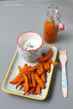 Kürbispommes Schranke mit Mangoketchup #gourmetguerilla #rezept