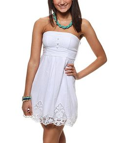 rue21 Embroidered Tube Dress. $29.99    i have a dress like this....its a little short tho- so maybe winter style i can wear some leggins or even jeans with it! hmm
