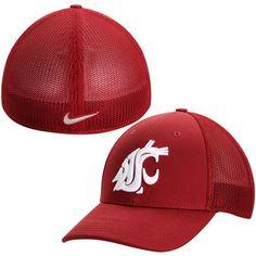 Nike Washington State Cougars Crimson Performance L91 Mesh Back Swoosh Flex Hat