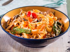 Vegetable bolognese • The finely chopped mushrooms create the hearty taste that would mince normally add.