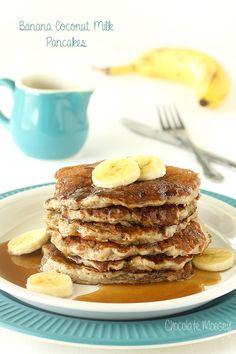 Banana Coconut Milk Pancakes (Dairy Free)