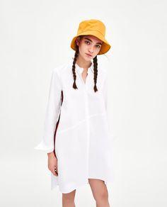 Image 2 of SHIRT DRESS WITH SIDE STRIPE DETAIL from Zara Zara Shop, Zara Dresses, Fashion Beauty, Shirt Dress, Detail, My Style, Shirts, Stuff To Buy, Outfits