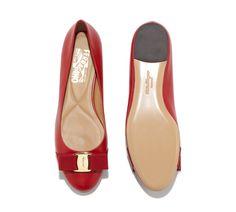 SALVATORE FERRAGAMO RED BALLET SHOES Red Ballet Shoes 684f9950bcf
