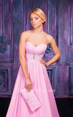 #Dorris Wedding - #Dorris Wedding A-line Floor-length Sweetheart Sleeveless Chiffon Lace-up Dress - AdoreWe.com