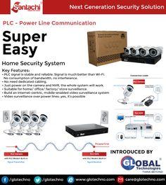 Global Technologies introducing 4 CH CCTV Power Line Communication Kit in Pakistan. Cctv Security Systems, Security Solutions, Power Line Communication, Building Management, Cctv Surveillance, Cameras, Pakistan, Posters, Technology